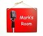 8x10 Microphone on Red Design Personalized Wall or Door Sign